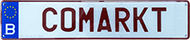 nummerplaat laten maken bij CoMarkt